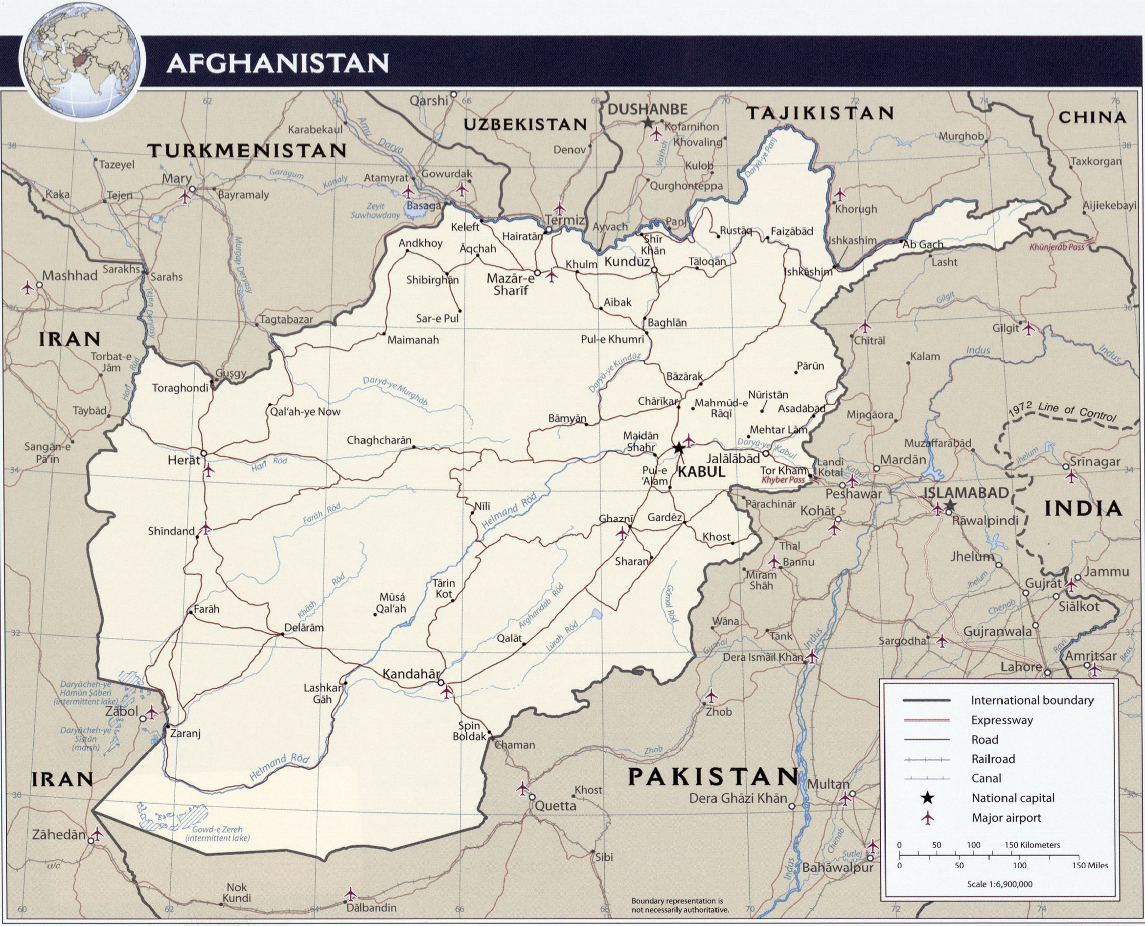 Railway freight transportation to Afghanistan