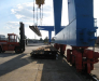 Die Beförderung von Fracht aus Belgien und den Niederlanden.