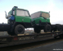Железнодорожная перевозка колёсной техники из Европы