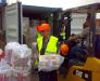 Manual reloading in the port of Odessa Ukraine