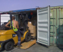 Cargo reloading from the maritime container into rail container