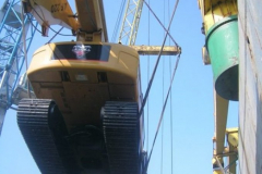 Transportation of machines for drilling and screening