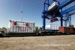 Перевалка трансформаторов и тяжеловесных грузов на станции Брест (Беларусь)