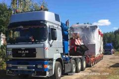 Погрузка и крепление негабаритных грузов на ЖД платформах и транспортерах