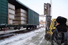 Железнодорожная перевозка древесины, пиломатериалов, ДСП, фанеры из России в страны СНГ, Румынию, Молдову, Афганистан, Монголию, Иран, Турцию.