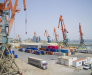 Перевалка грузов в порту Алят Азербайджан