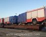 Доставка пожарных машины по железной дороге