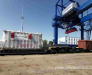 Transshipment of transformers and heavy equipment at Brest station (Belarus)