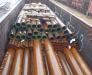 Railway transportation of ferrous metals.
