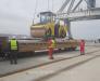 Transshipment and forwarding of goods in the port of Alyat Azerbaijan.