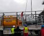 Transshipment of road equipment from Turkish trucks to CIS wagons in the port of Alat (Azerbaijan).