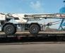 Der Schienentransport der Sonderausstattung aus Europa in Turkmenistan