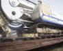 Der Schienentransport der Bohrgeräte