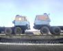 Der Transport der Maschinen in der Mongolei