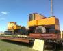 Der Transport der Baumaschinen