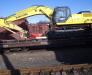 Der Schienentransport der Anlagen für die Extraktion, Waschen, Zerkleinern und Sortierung von Sand und Kies