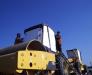 Die Umladung der Baumaschinen in Wagen im Hafen Ilichevsk, Ukraine