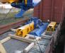 Die Lieferung der Baumaschinen auf dem Eisenbahnweg