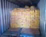 Der Transport von gefrorenem Fleisch aus Europa und Brasilien im Hafen von Poti und Batumi, Georgien