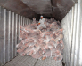 Die Lagerung von gefrorenem Fleisch in Poti und Batumi in Georgien