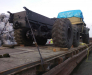 Die Umladung der Fahrzeuge in den Häfen von Poti und Batumi, Georgien