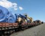 Der Schienentransport der Fahrzeuge in Afghanistan