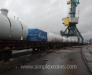 Der Transport der Ausrüstung aus Jebel Ali (VAE) nach Usbekistan.
