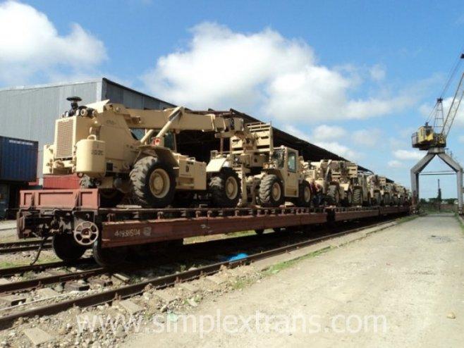 militärtransporte mit der bahn