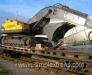 Eisenbahnbeförderung von Bau-und Straßen-Reparatur-Maschinen und Geräten (Bagger, Planierraupen, Radlader, Grader, Krane, Stampfer, Maschinen für Asphaltarbeiten).