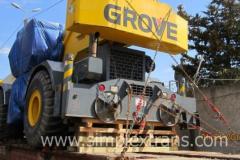 Der Transport der überdimensionierten Anlagen in Georgien