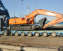 Transshipment of goods in the port of Turkmenbashi Turkmenistan