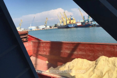 Transshipment of soybean meal and soybeans in the port of Poti, Georgia