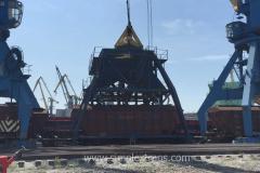 Grain transshipment in the port of Poti Georgia