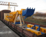 Rail transportation of construction equipment from Europe to Kazakhstan