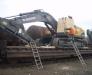 Transbordarea incarcaturilor agabaritice (excavatoare, utilaje de constructii, constructii metalice de dimensiuni mari) de pe nava pe vagoane