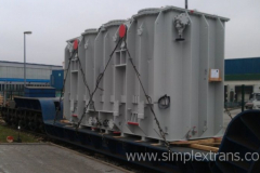 Transport ferroviaire de transformateurs électriques