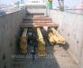 La manipulation et le montage d'installations de forage sur le wagon ferroviaire