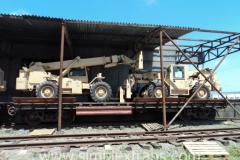 Transport de tehnica speciala in Afganistan