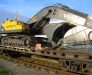 Transport ferroviaire des engins de chantier
