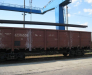Transshipment at Brest rail station (Belarus)