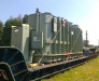 Railway transportation of electrical transformers