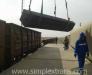 Türkmenistan'daki Sarahs istasyonunda aktararak Türkiye'den Özbekistan'a yük nakliyatı