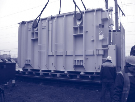 Carriage of transformers, Diesel generating sets, rotors, starters.