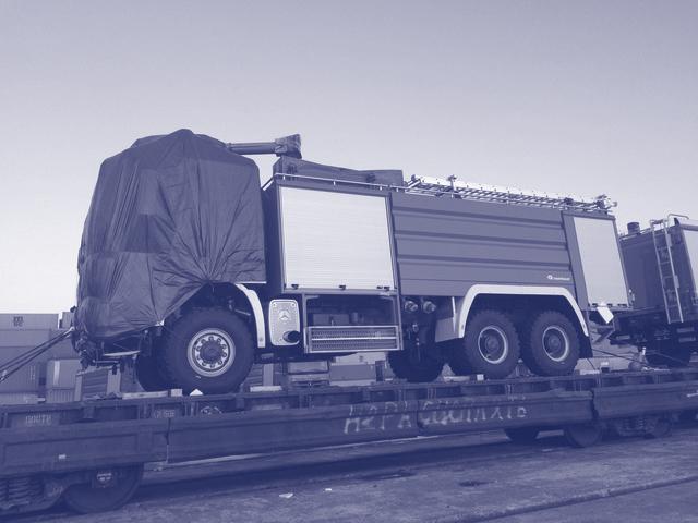 Die Beförderung von Sondermaschinen