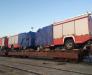 Ancorarea tehnicii auto pe platforme feroviare in portul Poti si Batumi Georgia