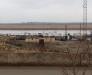 Hairatan nehir limanından Özbekistan Termez'e yük taşıması