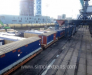 Railway transportation of oil and gas equipment, gas storage tanks