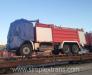 Transportation of fire trucks by railway