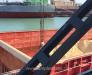 Выгрузка соевого жмыха (шрота) из балкерного судна в порту Поти Грузия