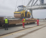 Transshipment and forwarding of goods in the port of Alyat Azerbaijan.